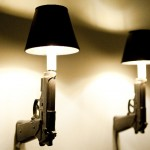 9mm Gun Sconces