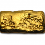 One Troy Ounce Skull & Bones Gold Bar